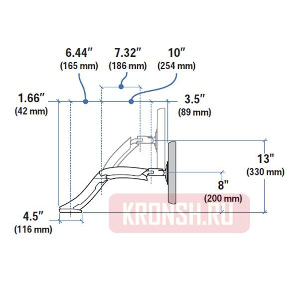 Кронштейн для СВЧ-печей Holder MWS-2003 белый max 40 кг настенный от стены 300-420 мм